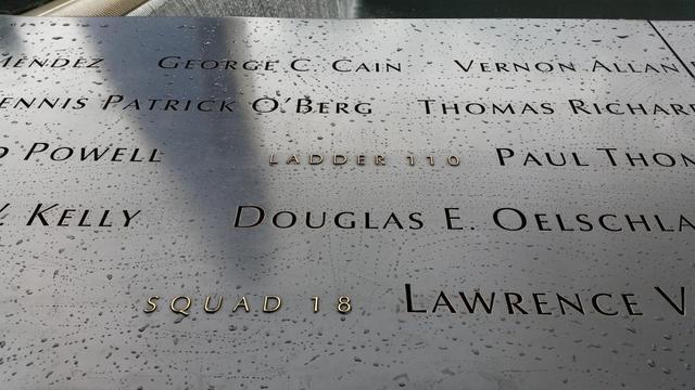 Names on 9-11 Memorial at Ground Zero