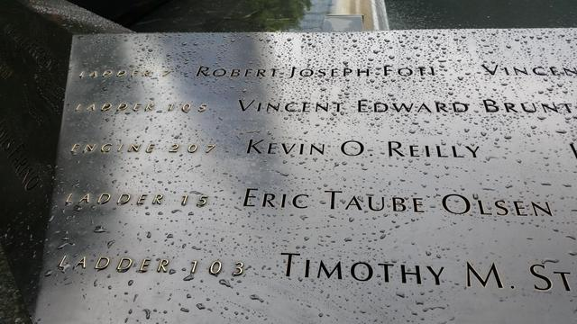Ladder Companies engraved on 9-11 Ground Zero Memorial