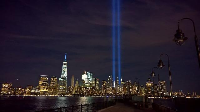 Today, lights shine from location on World Trade Center.
