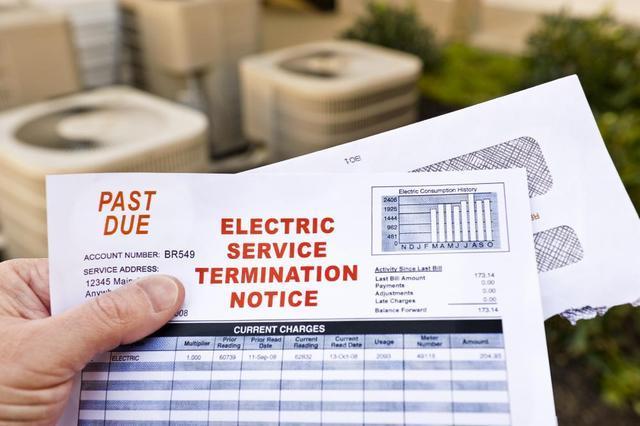 Electric Service Termination Notice Electric Bill