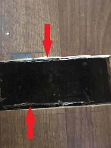Multiple gaps in duct boot