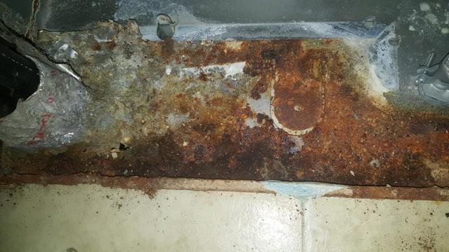 Rusted HVAC Components in Crawl Space