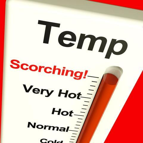 Scorching Temperatures Thermometer